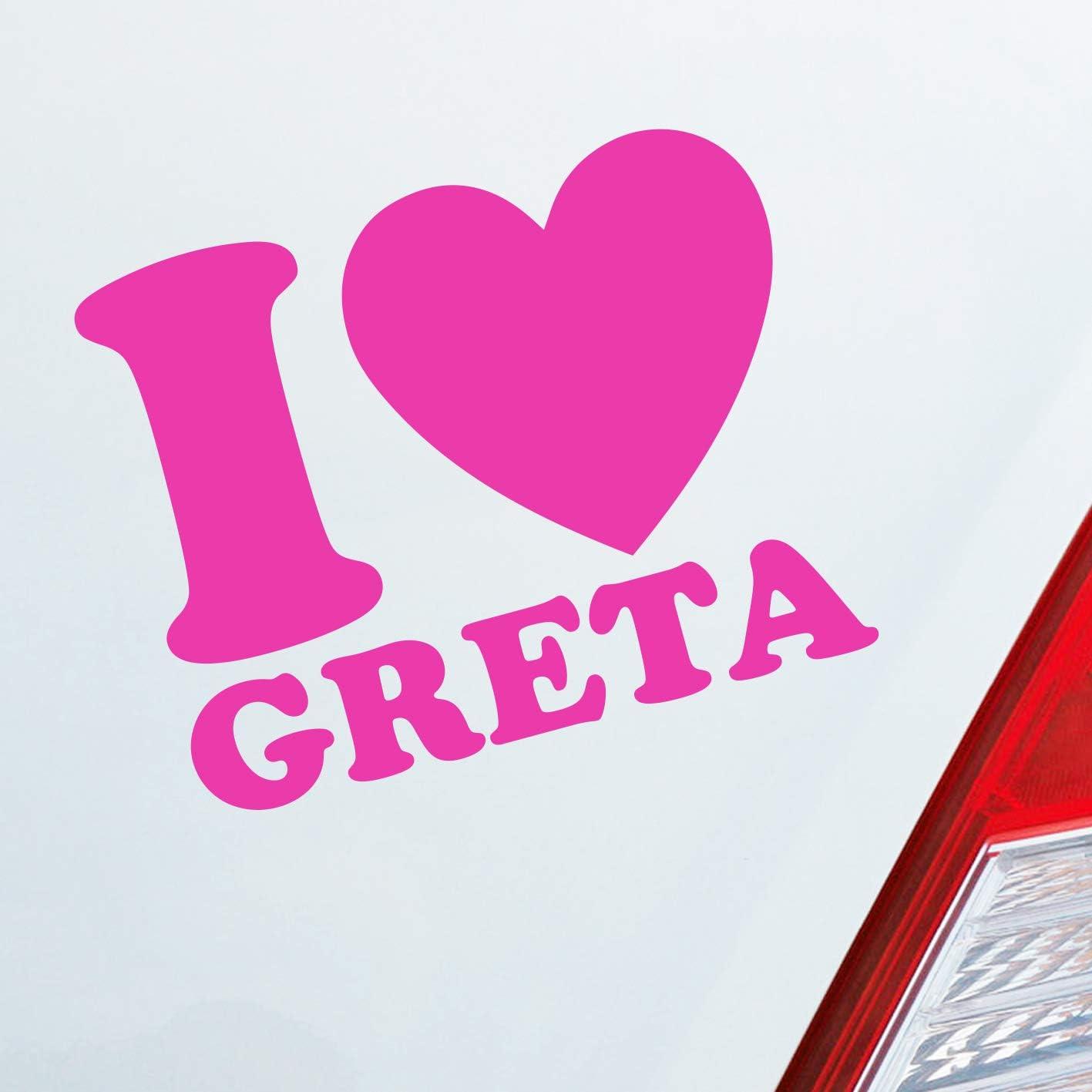 Auto Aufkleber In Deiner Wunschfarbe I Love Greta Herz Heart Liebe Fridays For Future Ca 12 X 10 Cm Autoaufkleber Sticker Auto