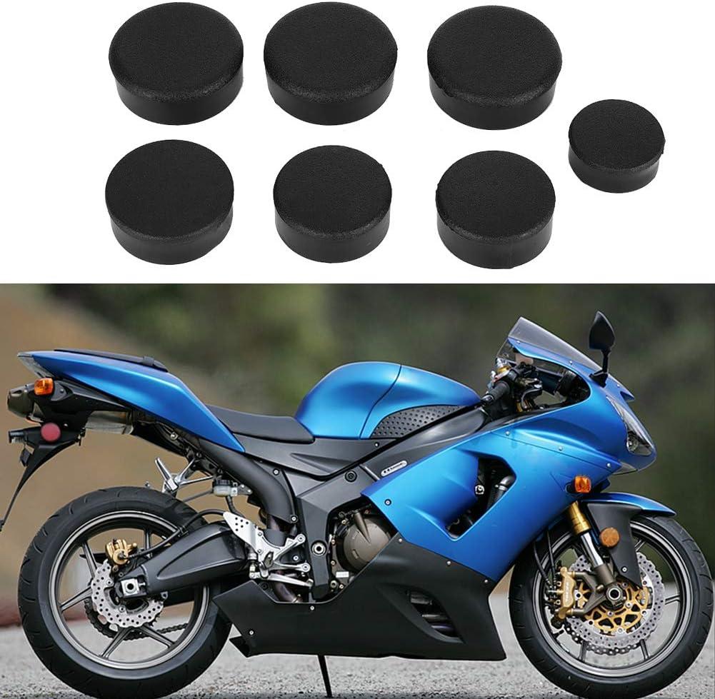 7pcs bouchon de trou de cadre de moto kit de bouchon de couvercle de trou de cadre de moto adapt/é pour Kawasaki Ninja ZX14//ZZR 1400