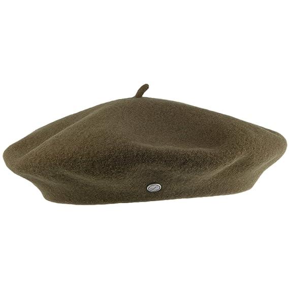 Laulhère Hats Authentique Merino Wool Beret - Olive 1-Size  Amazon ... b62d612e30e