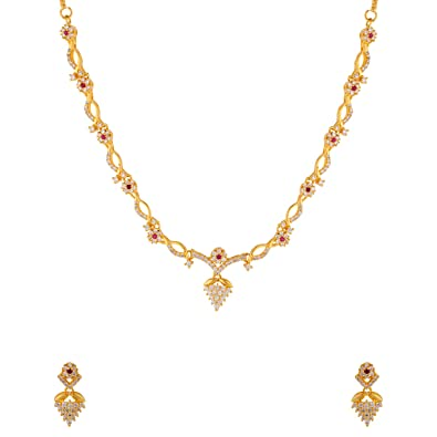 276af47426f1b Buy Voylla Gold Plated Brass Necklace Set Online at Low Prices in ...