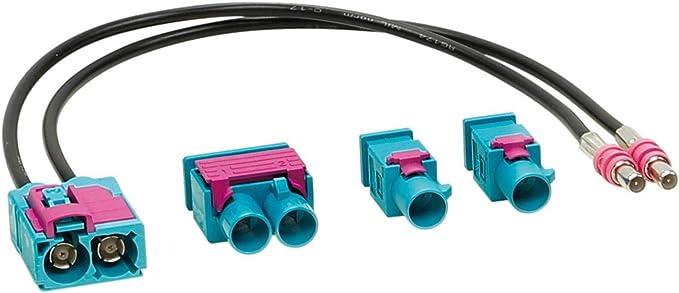 ACV 1524-25 - Juego de adaptadores de Antena Doppel-Fakra (w) > 1 Doble / 2 Individual, Multicolor