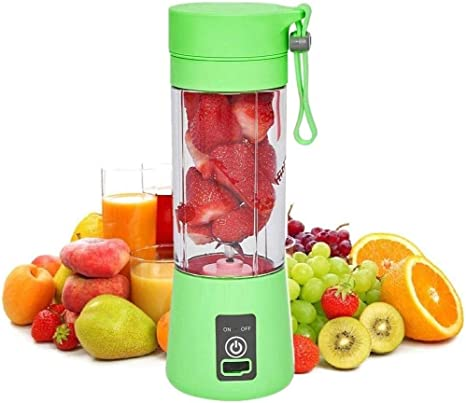 Fruit Juice 380ml Six 3D Juice cup Smoothie SANSHAAC Portable Blender NEW Blue Personal Mixer Fruit Rechargeable with USB Mini Blender for Milk Shakes