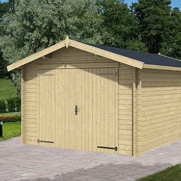 Greenway 3.3m X 5.1m Windowless Wooden Garage   Log Cabin Garages   Log  Cabins