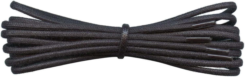 Fabmania cordones redondos de algodón encerado de 2 mm-45 a 120 cm de longitud-18 colores-finos encajes para zapatos de vestir y botas.