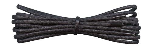 Fabmania Fein gewachste Baumwolle Schnürsenkel Schwarz 2