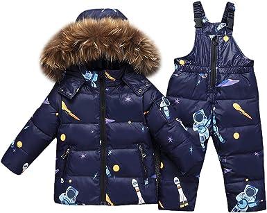 Odziezet Traje de Nieve niño Esquí Chaqueta con Capucha niña ...