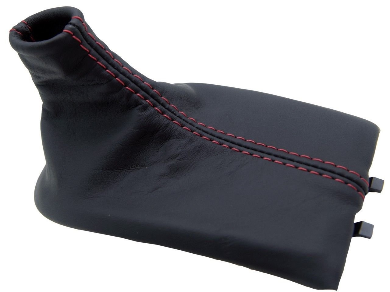 Autoguru Manual Shift Boot Synthetic Leather Black, Red Stitch Made for Porsche Boxster, 911, 996, 986 97-04