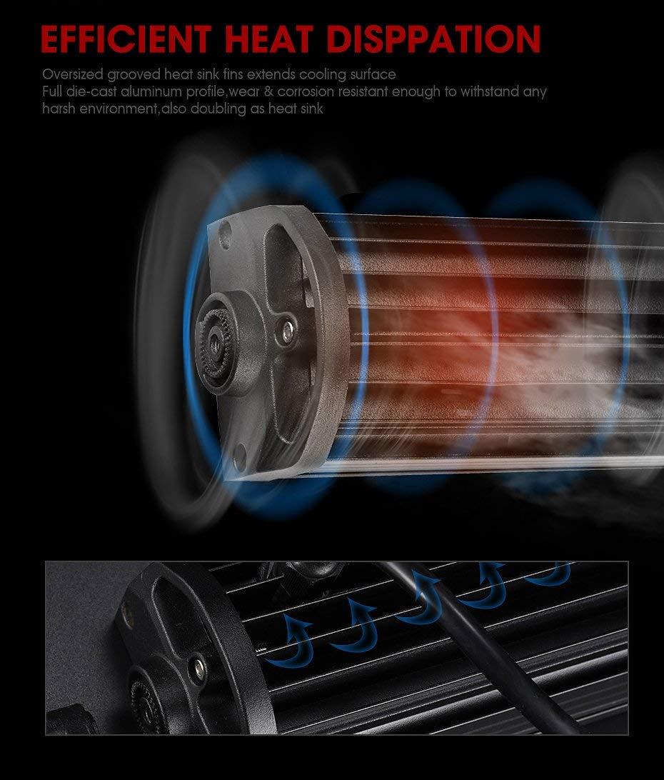 24V Impermeabile Fari LED Luci da Lavoro Trattore Auto Veicoli 4x4 ATV UTV Barra LED Fuoristrada Rigidon Barra Luce a Led Curva 234cm 675W Combinazione di Fascio Spot e Inondazione Cablaggio 12V