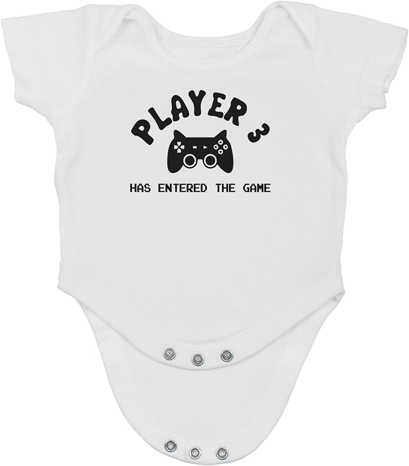 Player 3 Has Entered The Game - Funny Cute Third Child Gamer Infant Creeper, One-Piece Baby Bodysuit