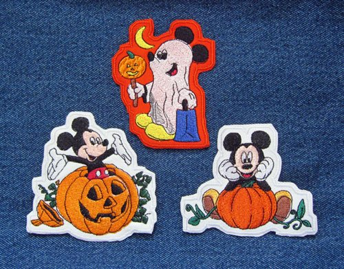 (Mickey Mouse Cartoon Inspired Happy Halloween Trio Save All Three Patches Included Ghost Trick or)