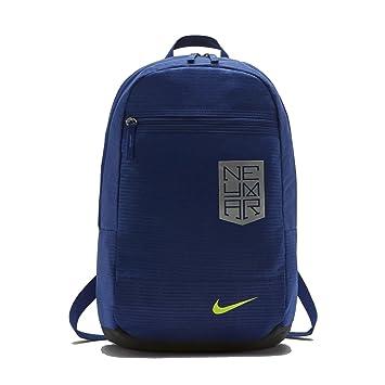 Nike Neymar Mochila Poliéster Azul - Mochila para portátiles y netbooks (Poliéster, Azul, Imagen, Unisex, Bolsillo Frontal, Cremallera): Amazon.es: ...