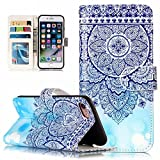for iPhone SE Case, for iPhone 5 5S Cover, CrazyLemon Luxury PU Leather Embossing Shiny Pattern Magnetic Wallet Flip Open Pocket ID Credit Card Slots Holders Shock-Absorbing Anti-Scratch Flip Stand Protective Case for iPhone 5 5S SE - Totem Pattern