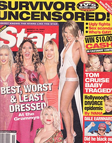 * BEST, WORST & LEAST DRESSED At the Grammys * Toni Braxton, Faith Hill, Traci Bingham, Christina Aguilera and Courtney Love - March 13, 2001 Star Magazine