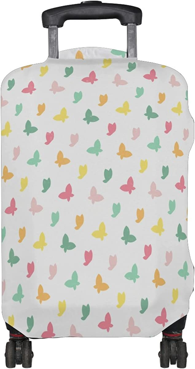 LAVOVO Colorful Butterflies Luggage Cover Suitcase Protector Carry On Covers