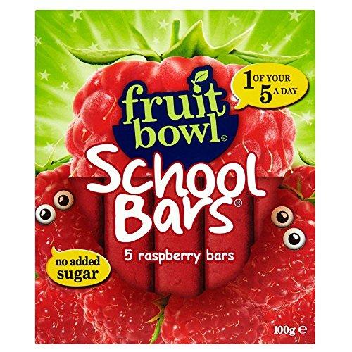 Fruit Bowl School Bars Raspberry (5x20g) - Pack of 2 by Fruit Bowl