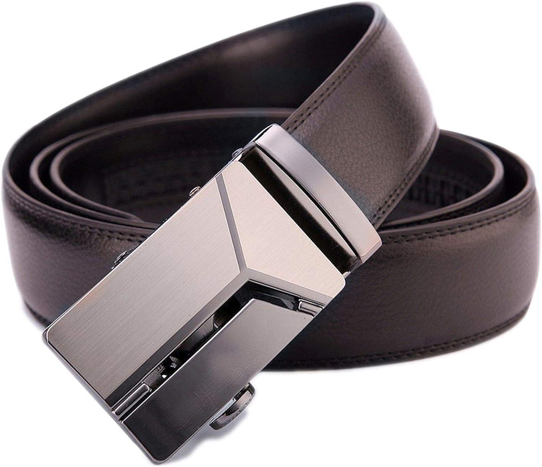 Mens Genuine Leather Belt Men Waistband Fashion Vintage Buckle Belt for Jeans