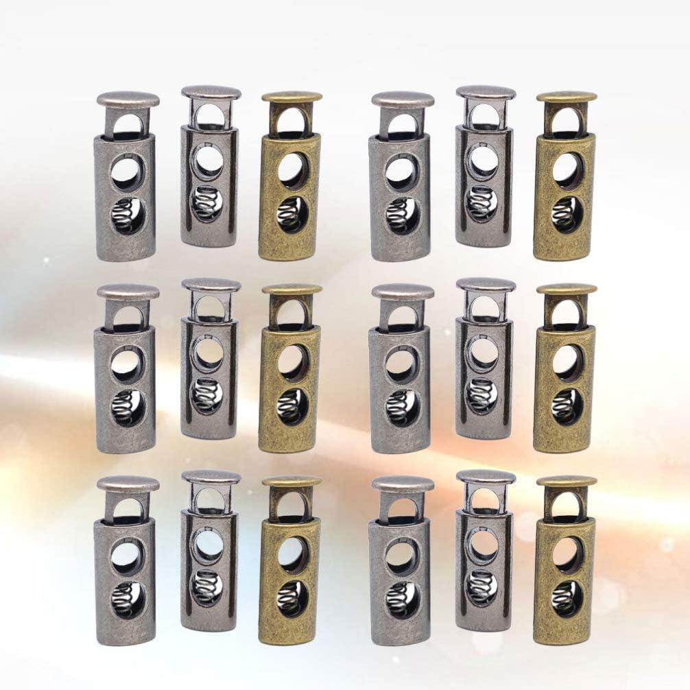 pantalons de surv/êtement Healifty Lot de 18 cordons en m/étal /à 2 trous /à ressort /à bascule avec cordon de serrage pour cordons de serrage cordons de chaussures