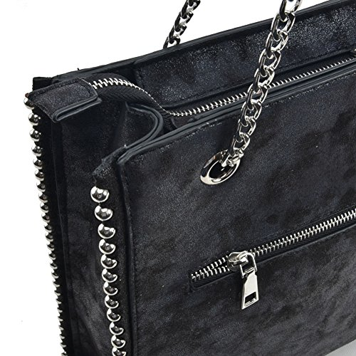 Chain Handbag Handbag YOUNG Fashion Hobo Women SALLY Shoulder Black Handles Bag With Long zFYqWw