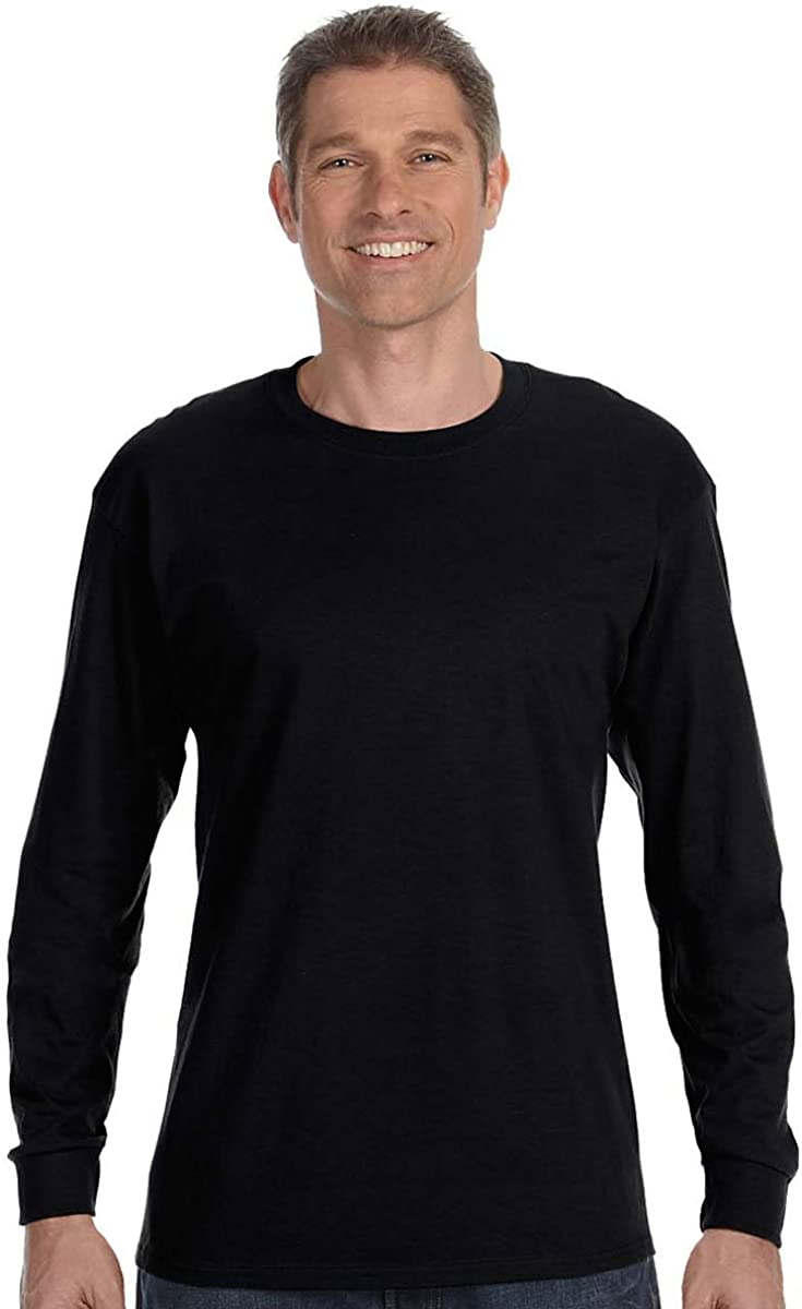 Hanes Mens Tagless 100% Cotton Long Sleeve T-Shirt