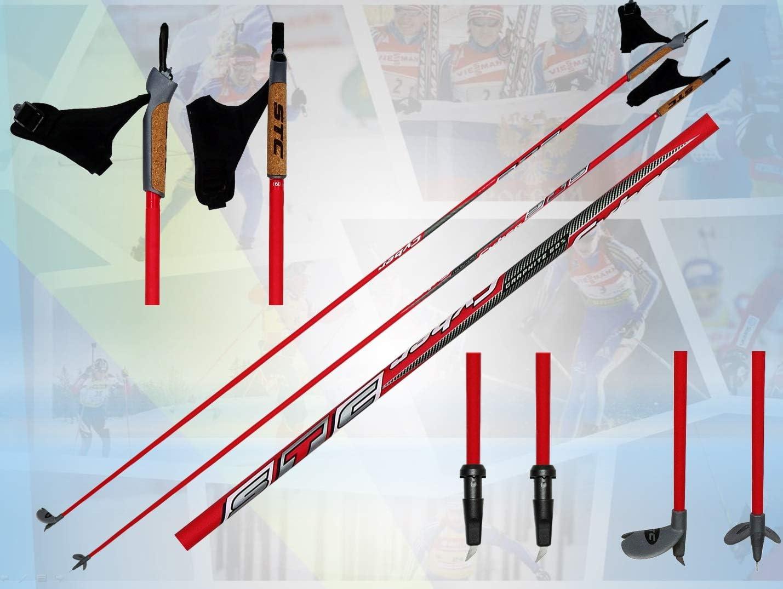 STC Cyber 60/% Carbon Langlaufstock Skating Roller St/öcke Rollski St/öcke Skike