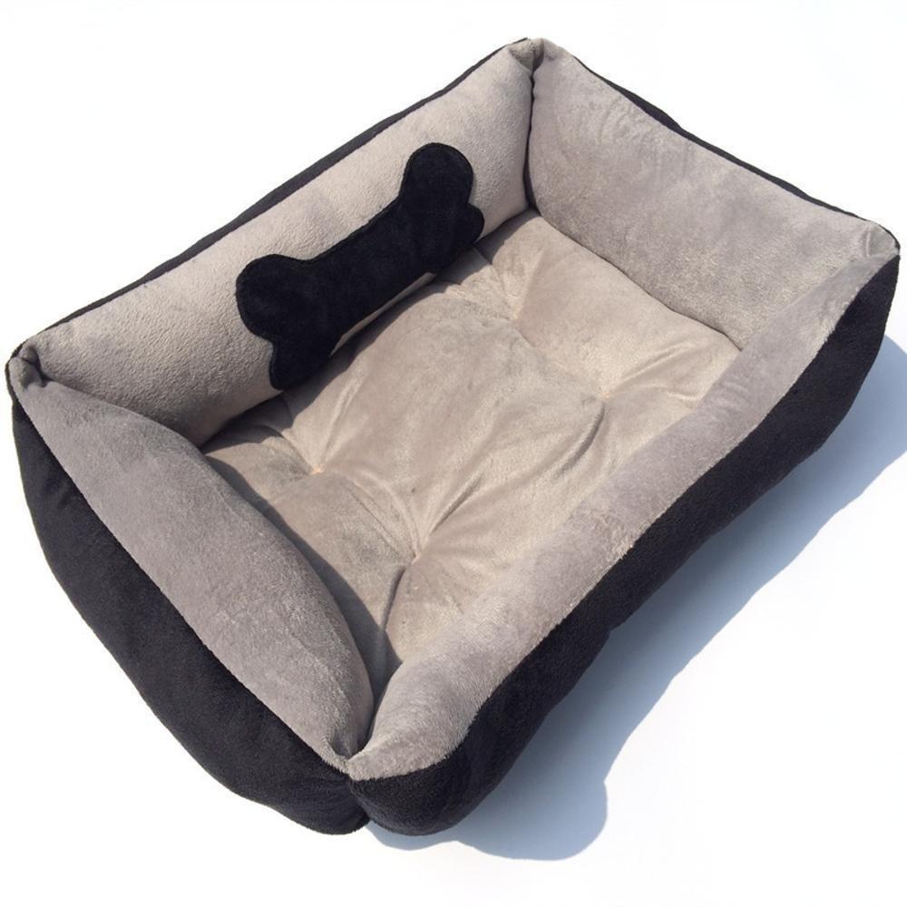 A 504015cm A 504015cm WUTOLUO Pet Bolster Dog Bed Comfort Cloth Square Corner Kennel cat nest (color   A, Size   50  40  15cm)