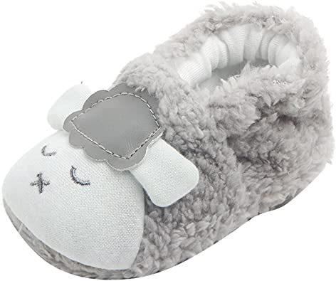 Newborn Baby Boys Girls Premium Soft Slippers/Socks Boots Prewalker Anti-Slip Thick Fleece Shoes