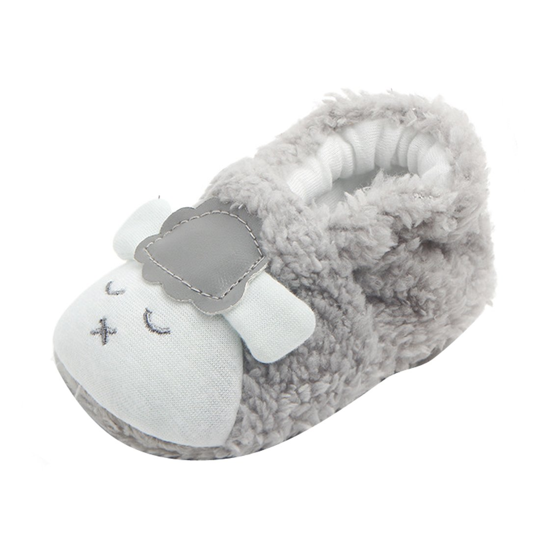 WINZIK Newborn Baby Boys Girls Crib Shoes Winter Warm Cute Sheep Style Soft Sole Slipper Prewalker Toddler Boots