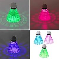 jackyee LED Light Badminton (Fat Packaging) (Nouveau) 3Pc-Piece LED Badminton Lumineux Nuit Noire Mousse en Plastique Coloré Rouges Volants
