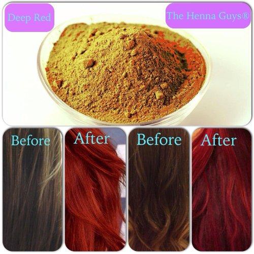 Amazon Com Deep Red Henna Hair Beard Color Dye 3 Pack The