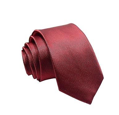 dernières conceptions diversifiées code promo prix fou Lovinda Cravate Homme D'affaire Travail Classique Vin Rouge Cravate Four  Mâle x 1Pièce