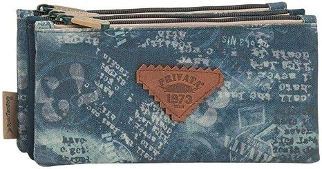 Privata West Estuche 3 bolsillos (23x11x4 cm): Amazon.es: Oficina y papelería