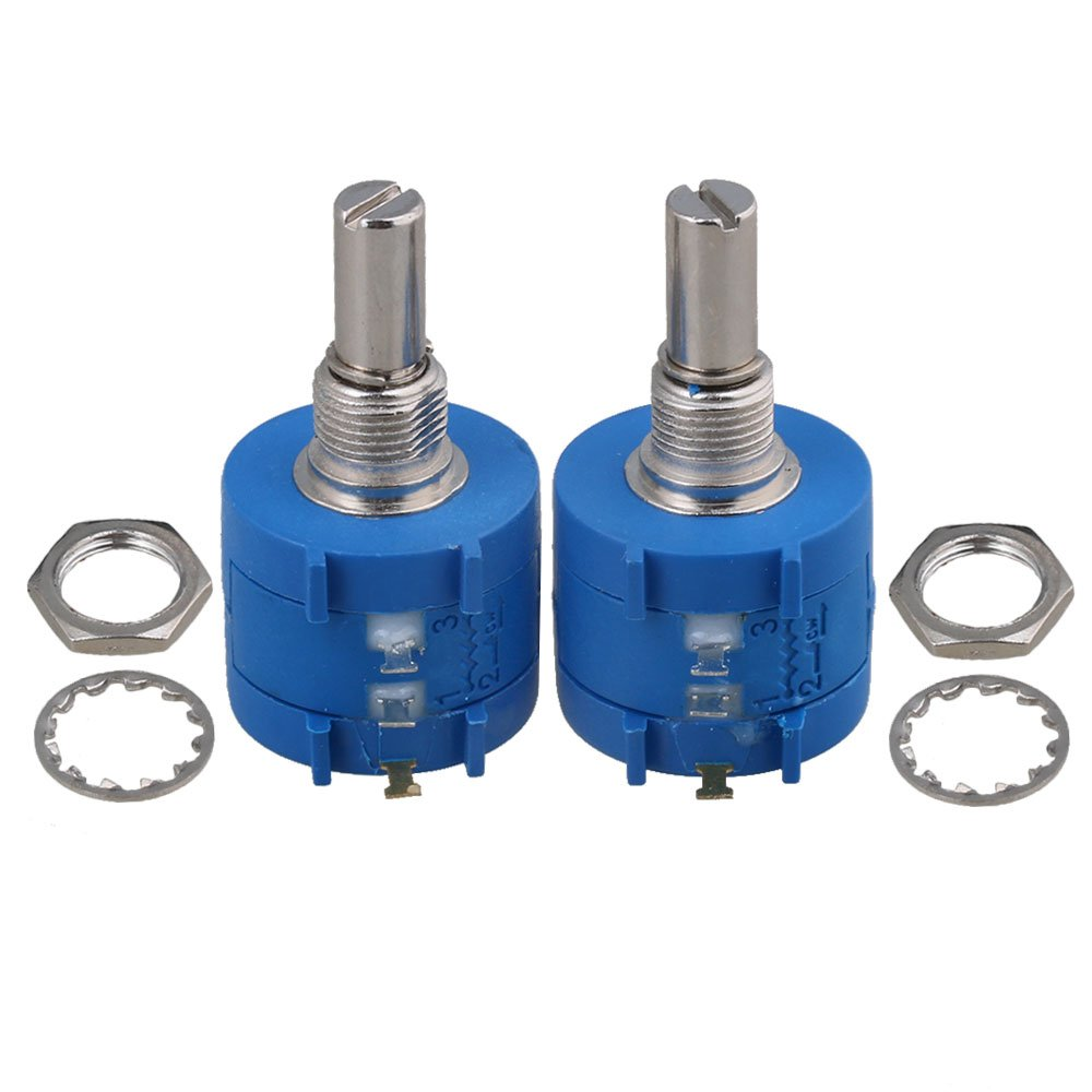 CNBTR 100 Ohm 10-Turn Rotary Wire Wound Precision Potentiometer Pot Set of 2 yqltd CNBTR40