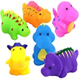 Bathtub Toys Dinosaur Water Baby Bath Toys for Toddler Days Gift - Kids Fun Squirt Toys Floating Bathroom Toys Organizer Set 6PCS