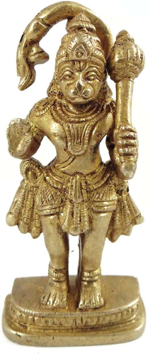 従来ゴールドen Lord Hanuman壁装飾真鍮メタルFigurine装飾アート