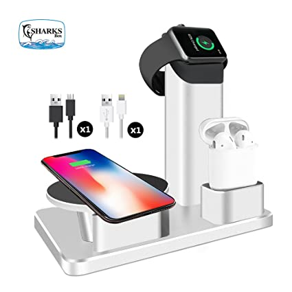 Amazon.com: sharksbox iPhone cargador inalámbrico soporte ...