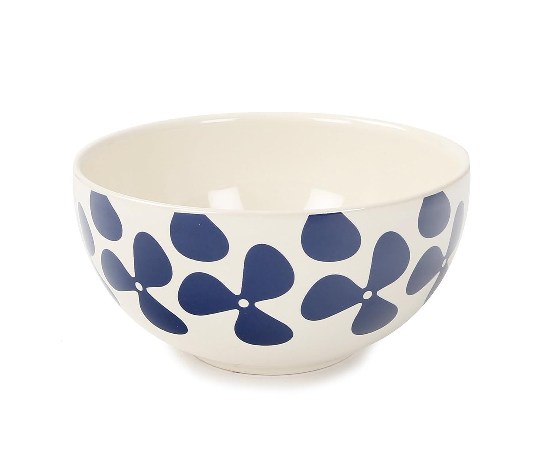 Jersey Pottery Helice Azul Bol para Cereales, Azul/Crema: Amazon ...