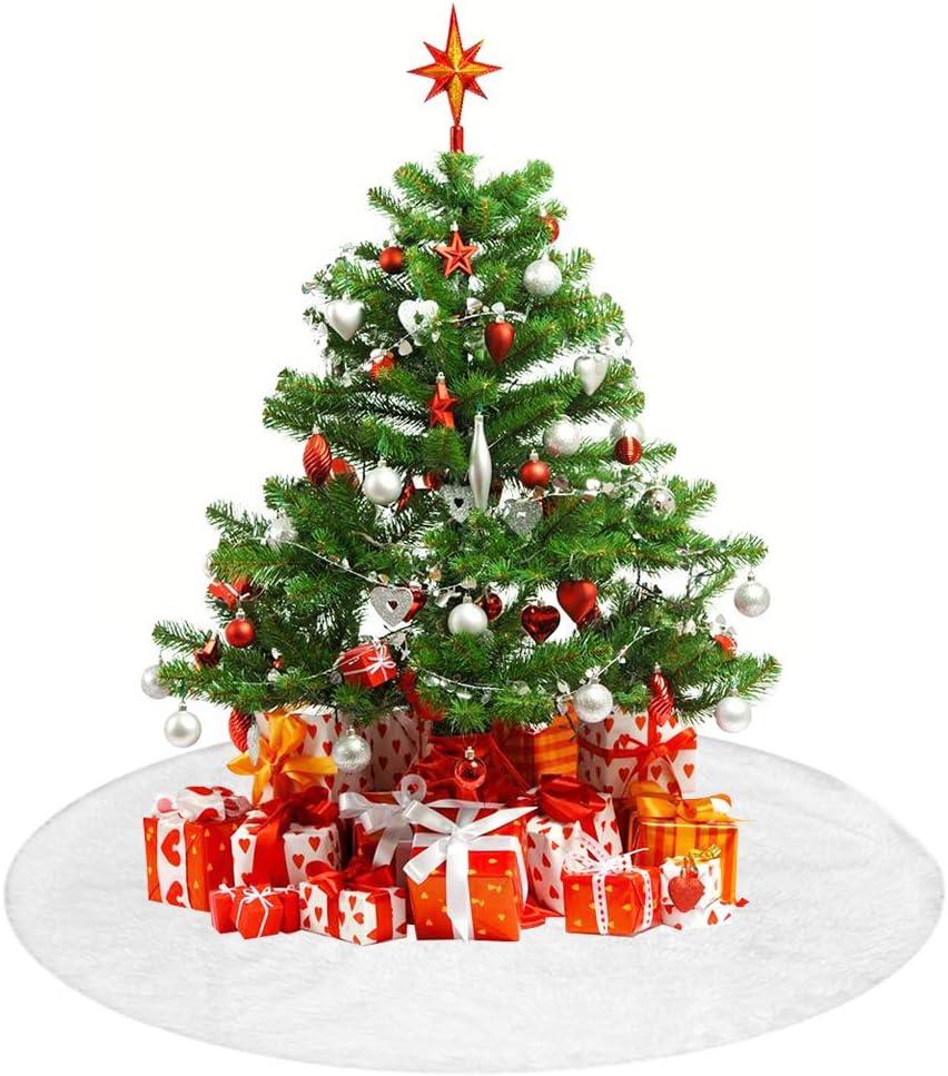 TDCQ Base Albero Natale Peluches,Gonna Albero di Natale,Decorazione per Albero di Natale,Copri Base Albero Natale,Copri Base Albero,Finta Pelliccia Albero di Natale,Home Gonne per Alberi di Natale