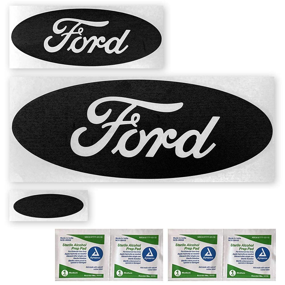BocaDecals Ford Edge Logo Emblem Insert Decals 2015-2018 Ford Edge ONLY, Matte Black