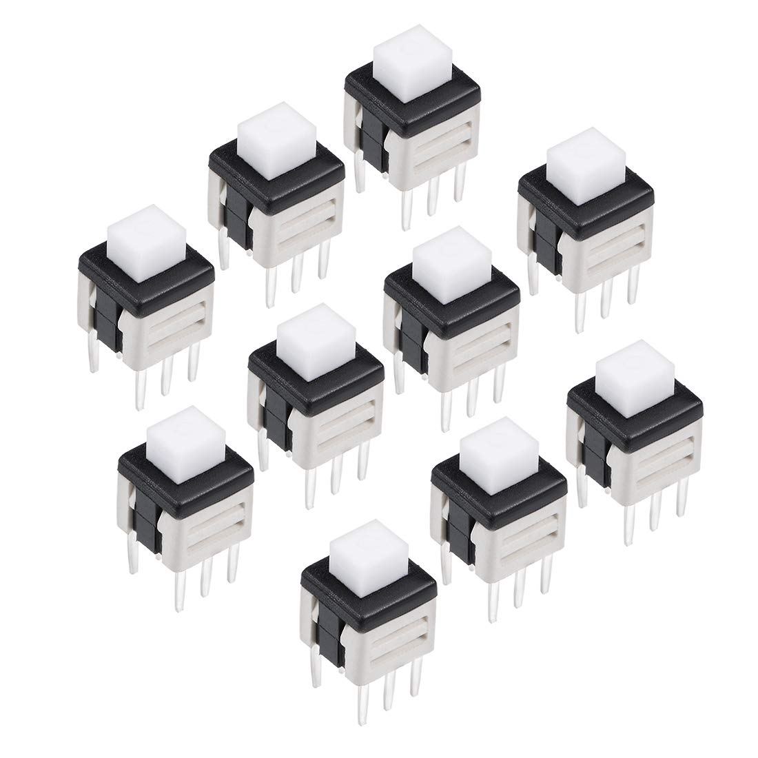 55pcs 6 Pins Dpdt Latching Power Micro Push Button Switches 85x85 Circuit 85x85mm Uxcell A14061000ux0467