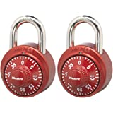 Master Lock 1530T Locker Lock Combination Padlock, 2 Pack Alike, Assorted Colors