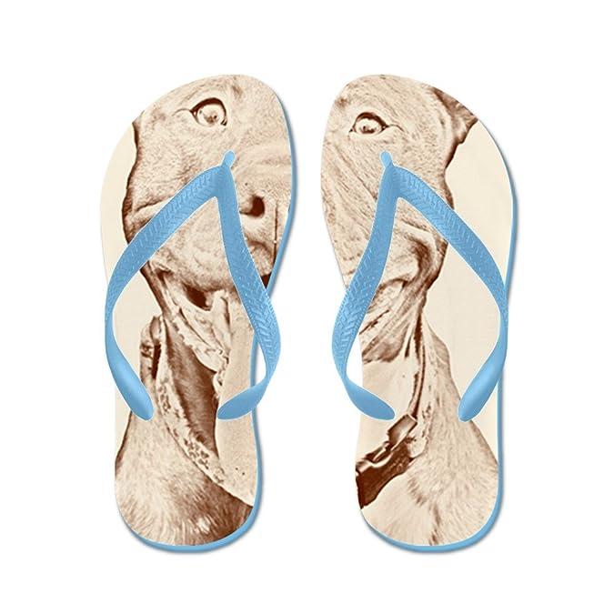 35c056a3dfe Amazon.com | CafePress - Pit Bull 15 - Flip Flops, Funny Thong ...