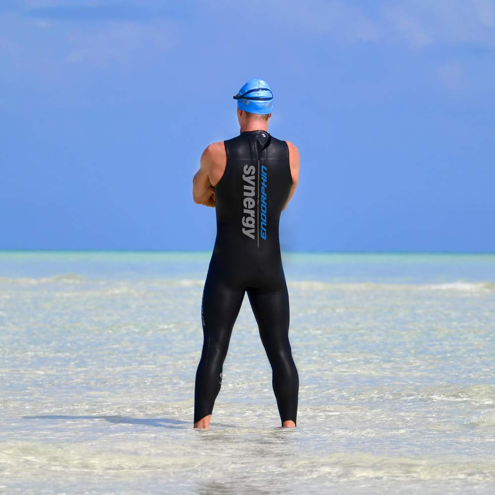 Synergy Triathlon Wetsuit Mens Endorphin Sleeveless 5//3mm for Open Water Swimming Ironman /& USAT Approved