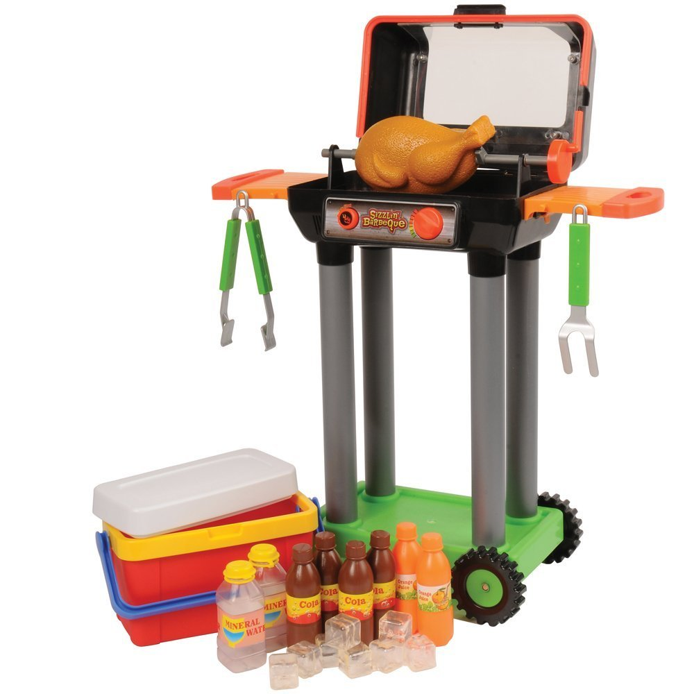 Amazon.com: CP Toys Battery-operated Pretend Play Barbeque Grill and ...