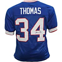 $103 » Thurman Thomas Autographed Football Jersey - Buffalo Blue Custom - Hand Signed & JSA Authenticated