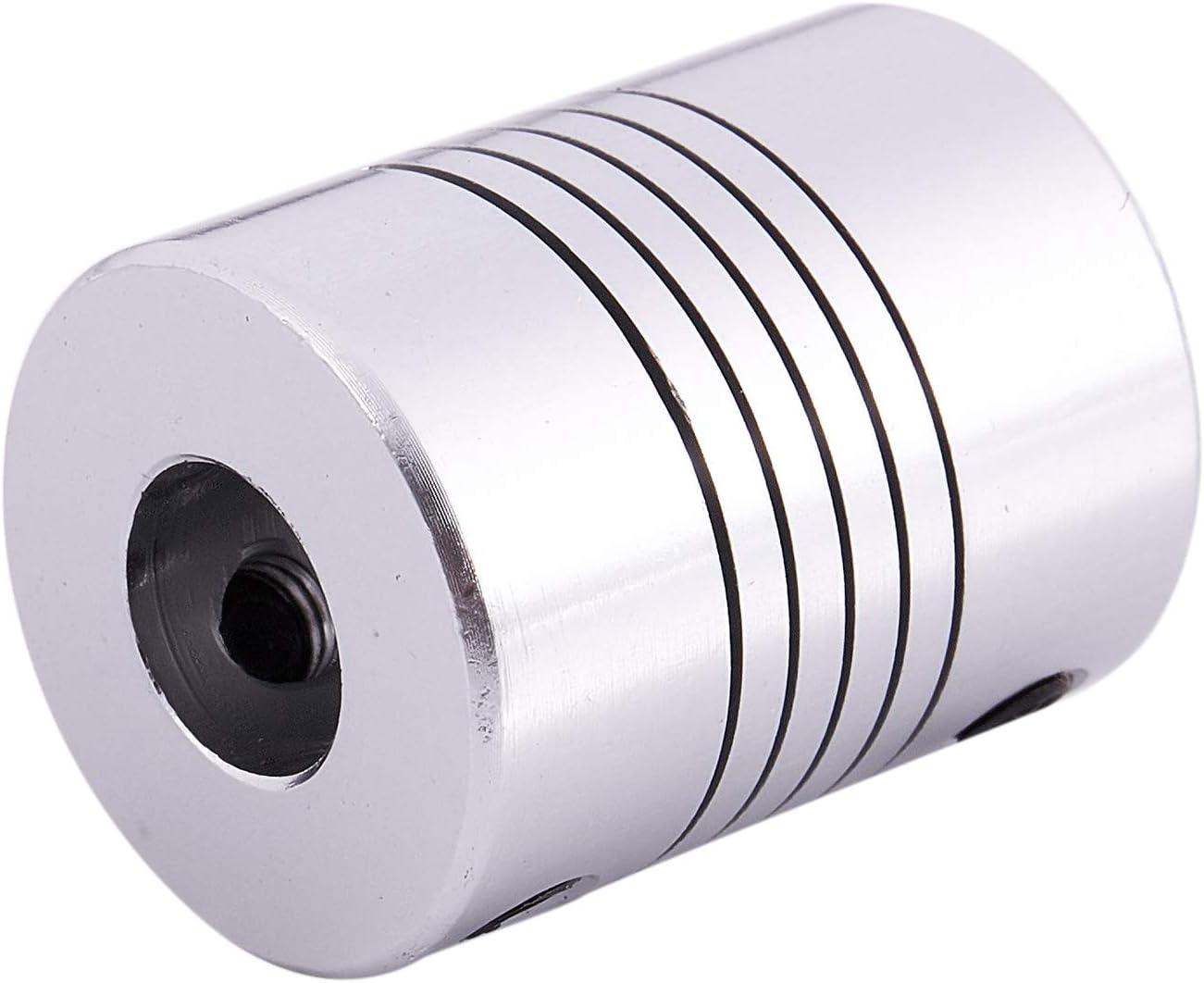 Naliovker CNC Motor Shaft Coupler 6.35mm to 8mm Flexible Coupling 6.35x8mm