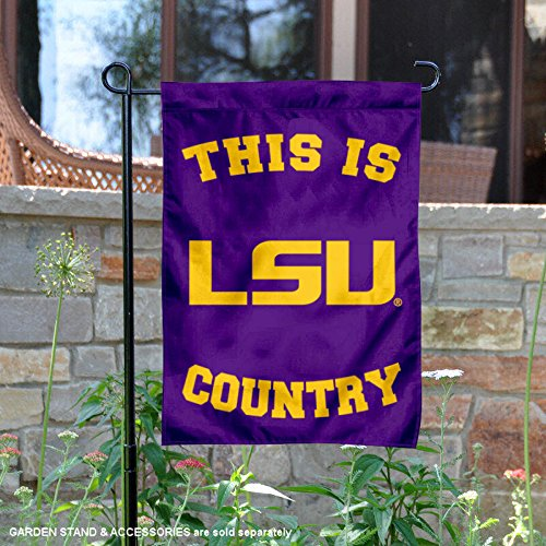 College Flags and Banners Co. Louisiana State LSU Tigers This is LSU Tiger Country Garden Flag