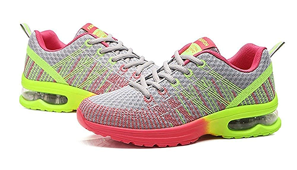 KEREE Womens Air Cushion Flyknit Athletic Running Shoes Fashion Sneakers