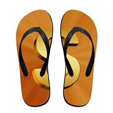 4080973ed Amazon.com  Z-YY Gold Dollar Women s Men s Lightweight Flip Flops Beach  Slippers Shower Sandal  Clothing