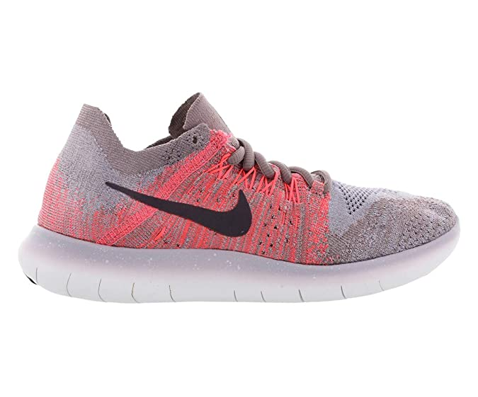 3248a32affbe5 Nike Women's Free RN Flyknit 2017 Running Shoe Taupe Grey/Port Wine ...