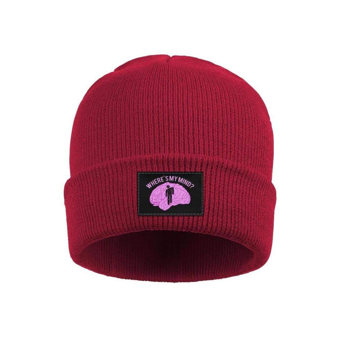 a746b530 Amazon.com: HOPAPALA Billie-Eilish-Where's-My-Mind- Wool Cuffed Plain Beanie  Warm Winter Hats Watch Skull Cap for Men Women: Clothing